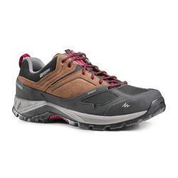 男款防水登山健行鞋MH500-棕色