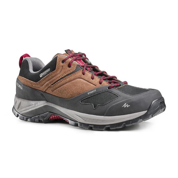 Men's waterproof mountain hiking shoes - MH500 - Brown