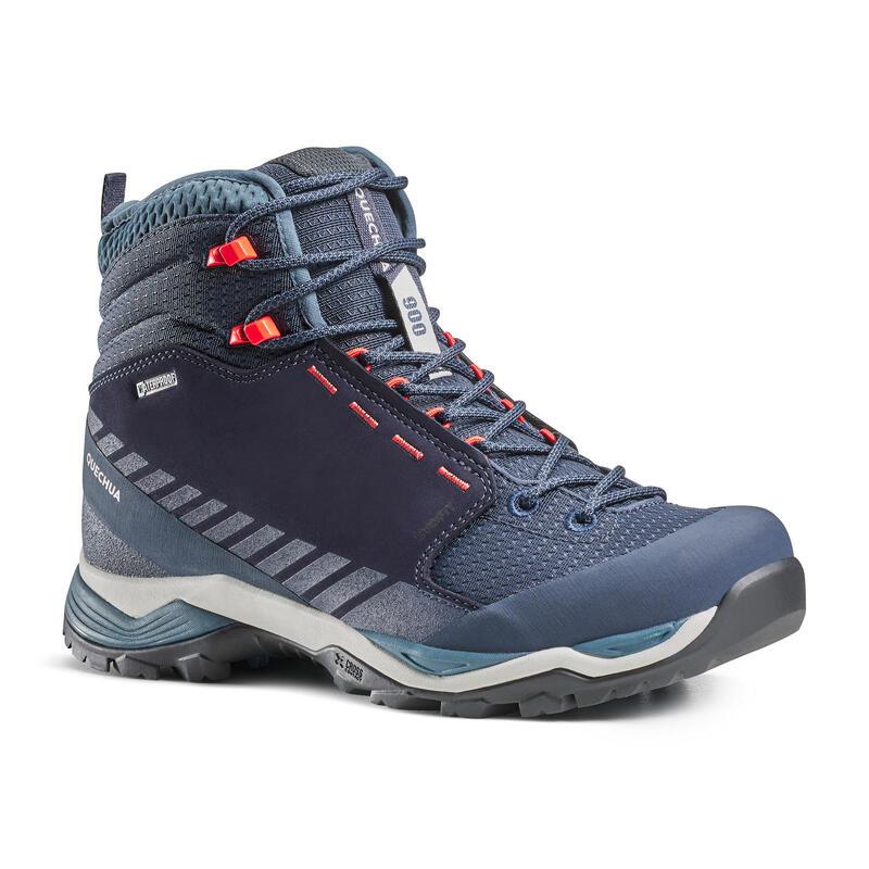 Women's waterproof mountain walking boots - MH900 Mid - Blue
