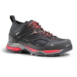Chaussures imperméables de randonnée montagne - MH900 Noir/Rouge - Homme