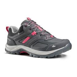 防水登山遠足鞋 - MH100 - 灰色/粉紅色 - 女裝