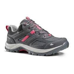 Women's waterproof mountain walking shoes - MH100 - Grey/Pink