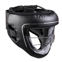 Helm met ingewerkte gezichtsbeschermer voor volwassenen 100 zwart