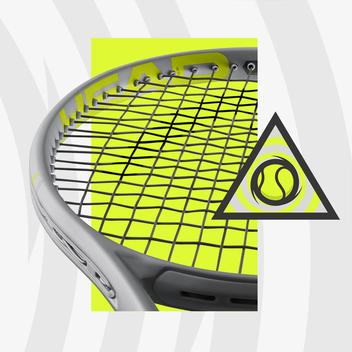 Raquette de tennis adulte Graphene 360 Extreme S Gris Jaune