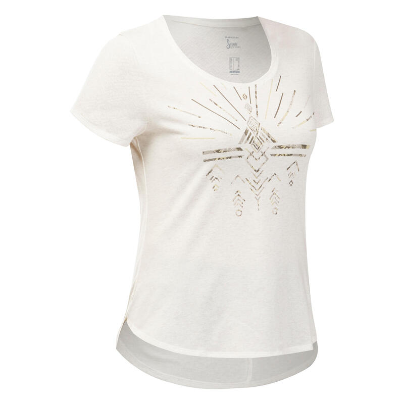 Camiseta senderismo naturaleza - NH500 - Mujer