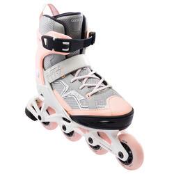 FIT 3 兒童滾軸溜冰鞋 (可調整4種尺寸) - 柔粉