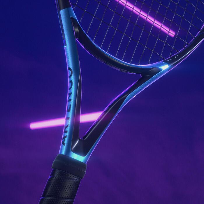 Raquette de tennis adulte TR930 Spin Pro noir bleu