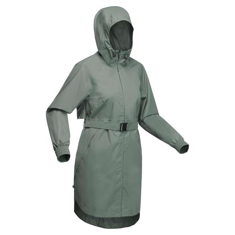N#i természetjárás es#kabát Túrázás - Női esőkabát Raincut long QUECHUA - Női túraruházat
