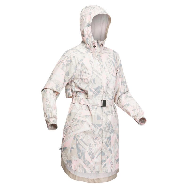 Women's Country Walking Waterproof Longline Jacket Raincut long