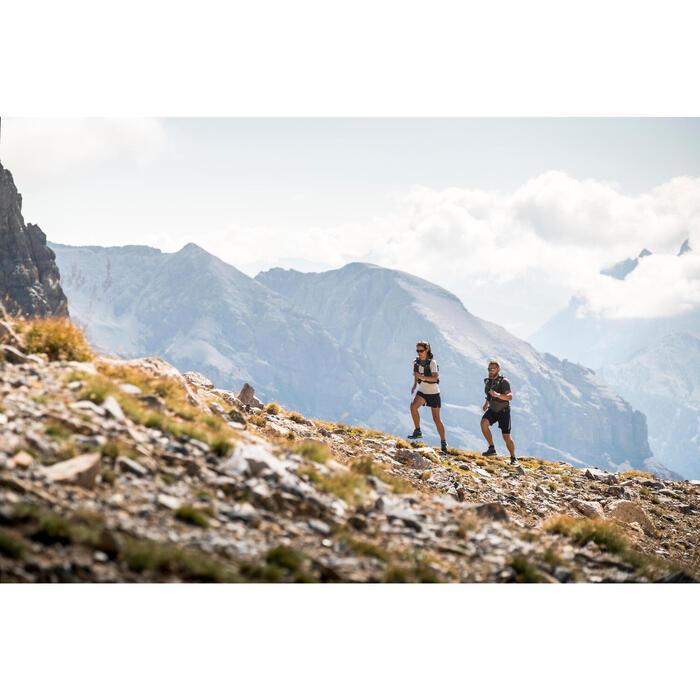 WOMEN'S TRAIL RUNNING SHORT-SLEEVED T-SHIRT - GREY