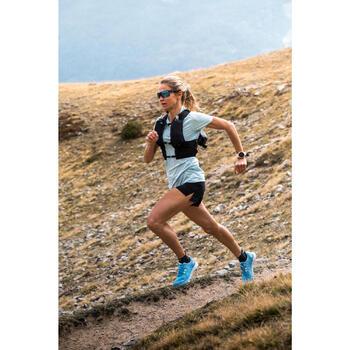 女款越野跑短袖T恤 - 藍色