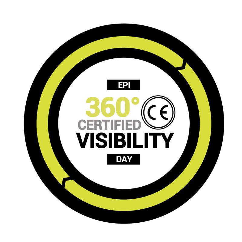 Women's City Cycling Rain Jacket 120 EN1150 Certified Neon Yellow