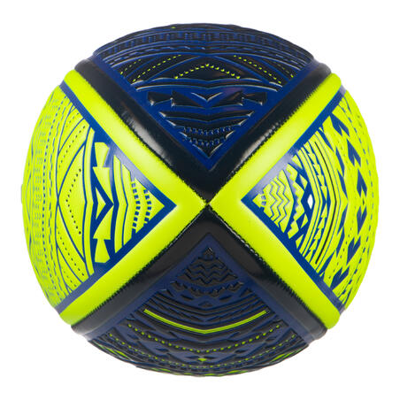 """Paplūdimio regbio kamuolys """"R100 Maori"""", 4 dydžio, mėlynas / geltonas"""