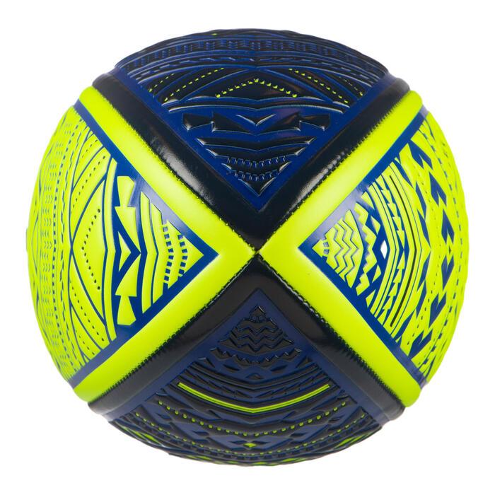 Beach Rugby Ball R100 Size 4 - Maori Blue/Yellow