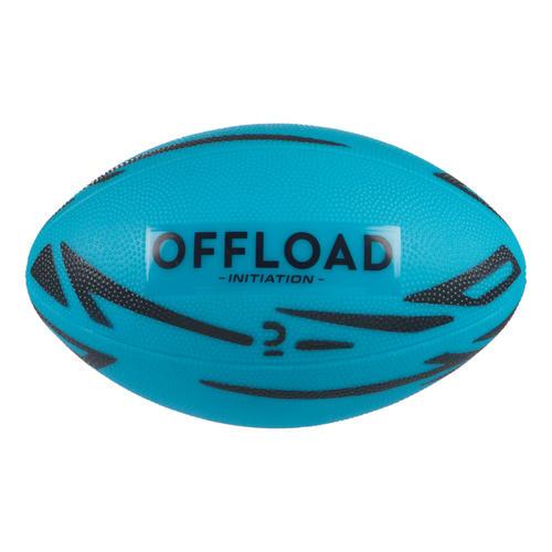 Ballon de rugby loisir initiation R100 Midi bleu PVC