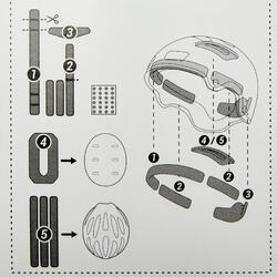 Kit mousses de rechange casque Oxelo