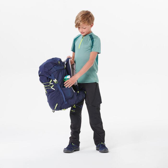 Wandershirt Bergwandern MH550 Kurzarm Kinder Jungen Gr. 122–170 grün