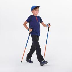 T SHIRT de randonnée enfant MH550 bleu 7-15 ans