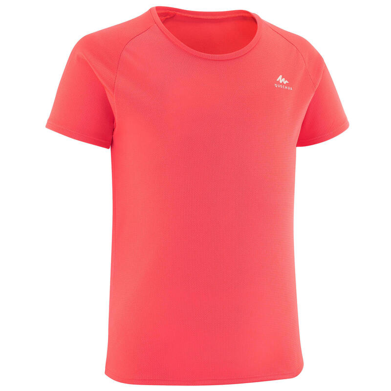 T shirt de randonnée - MH500 corail - enfant 7-15 ans