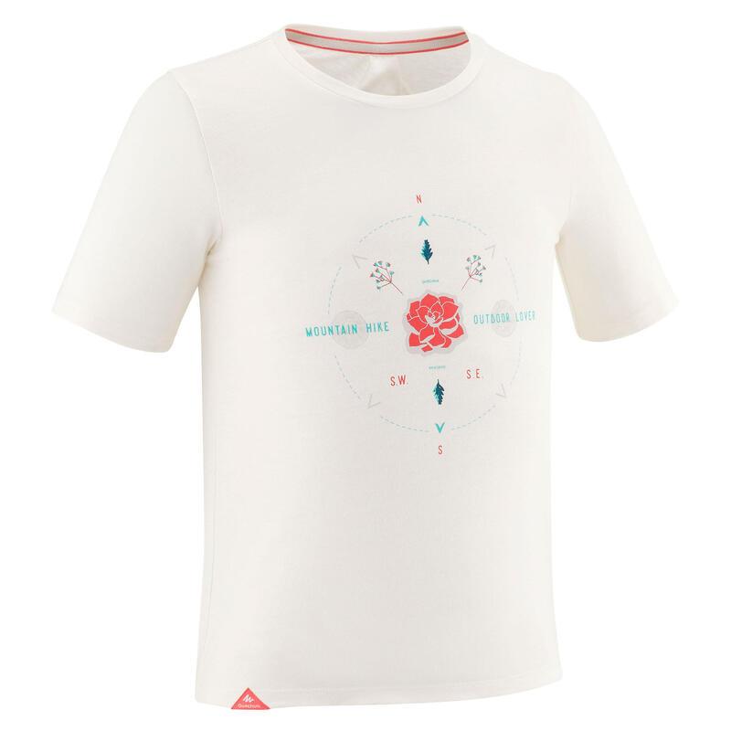 T-Shirt de randonnée - MH100 blanc - enfant 7 à 15 ans