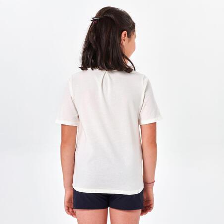 Kids' Hiking T-shirt MH100 7-15 Years - White