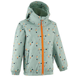 Waterproof hiking jacket - MH500 KID grey - children aged 2-6 YEARS