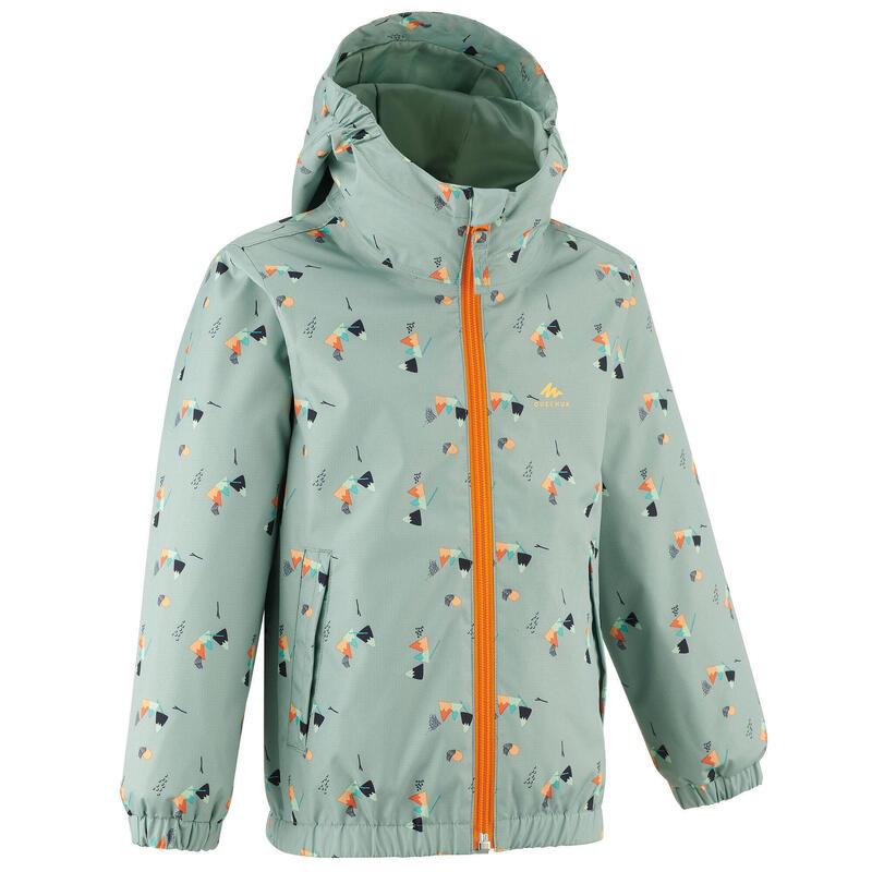 Waterproof hiking jacket - MH500 KID grey - children aged 2-6 YEARS