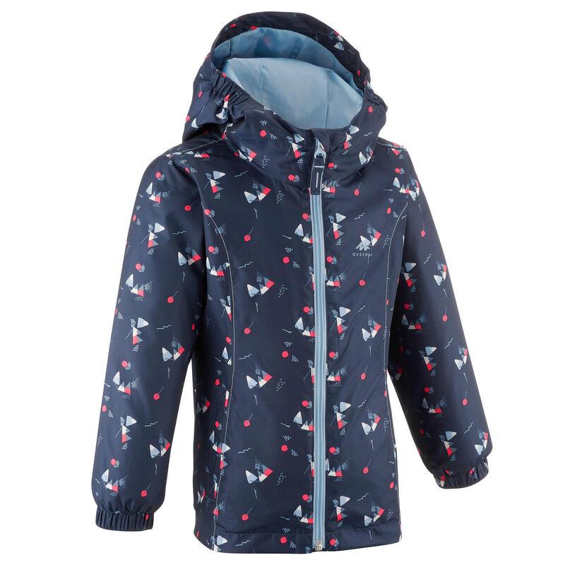 Regenjas voor wandelen kinderen MH500 marineblauw 2-6 jaar