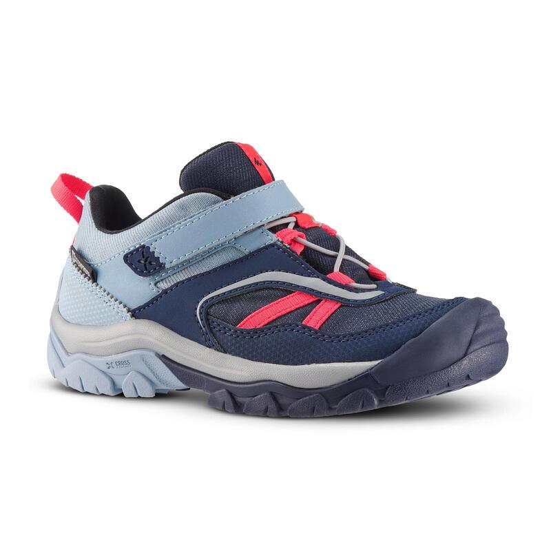 Chaussures imperméables de randonnée -CROSSROCK bleu rose - enfant 28 AU 34