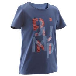T-shirt GINÁSTICA CRIANÇA 100 Azul Estampado