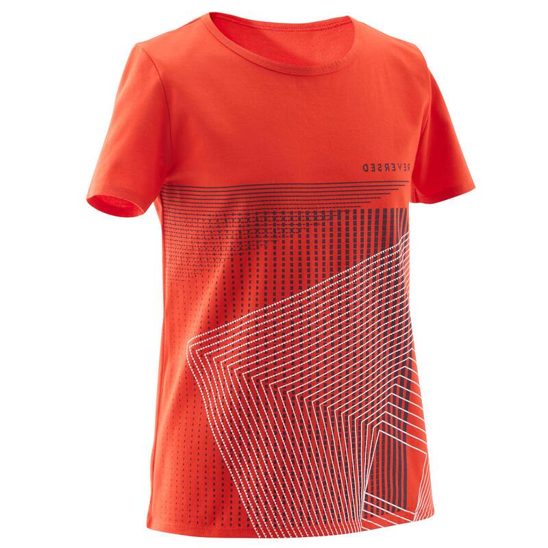 T-shirt enfant coton - Basique rouge avec imprimé