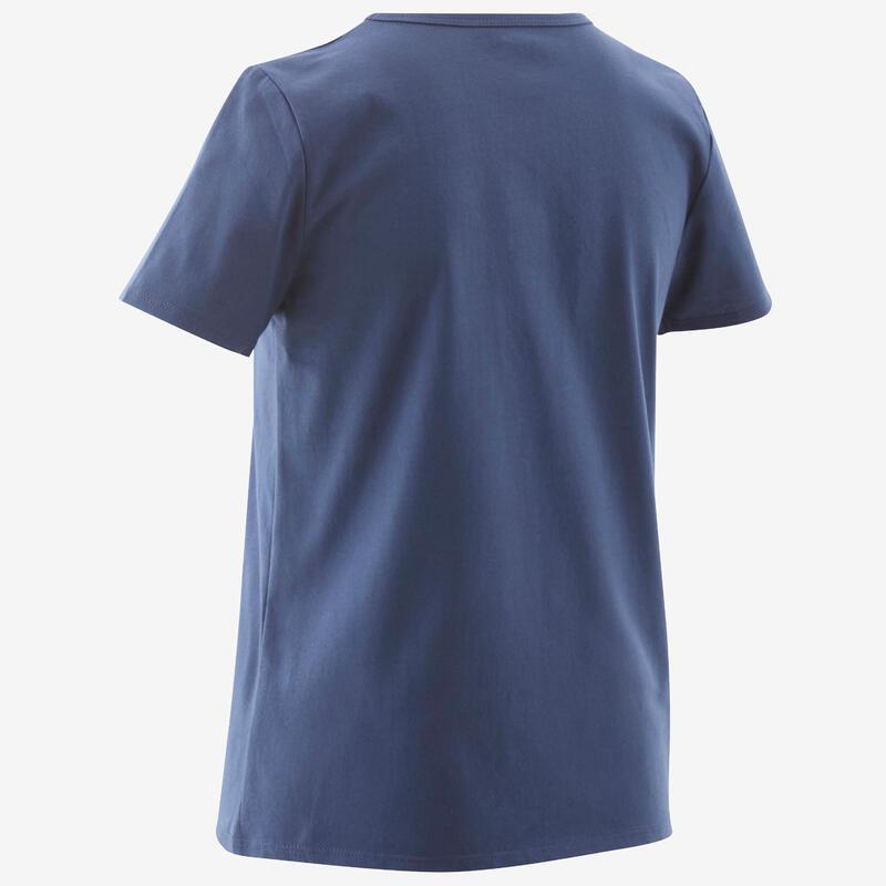 T-Shirt basique bleu jean imprimé ENFANT