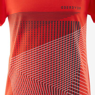 100 Boys' Short-Sleeved Gym T-Shirt - Red Print