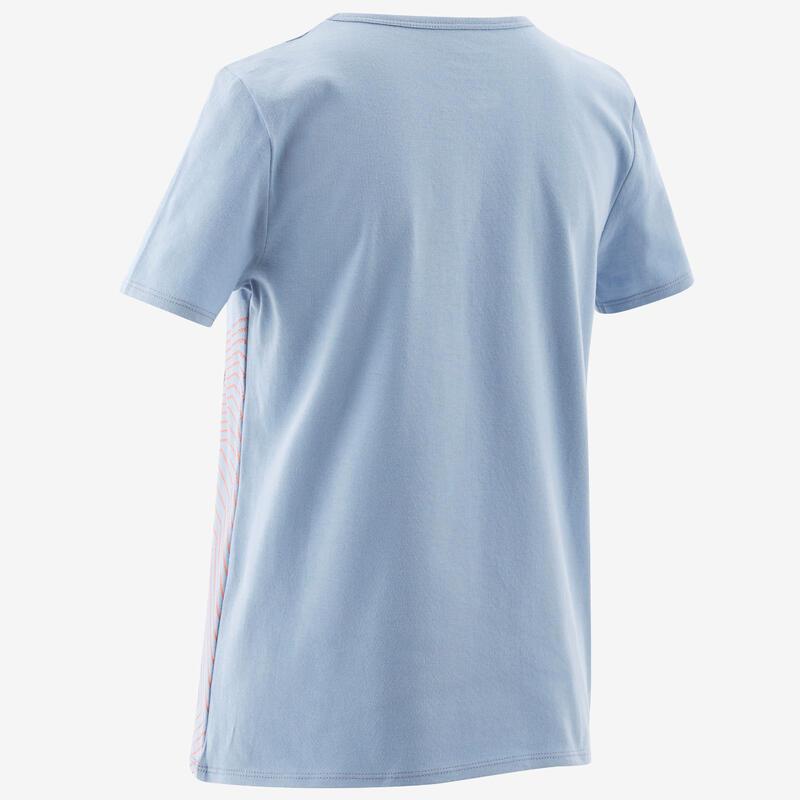 T-Shirt basique bleu clair imprimé ENFANT