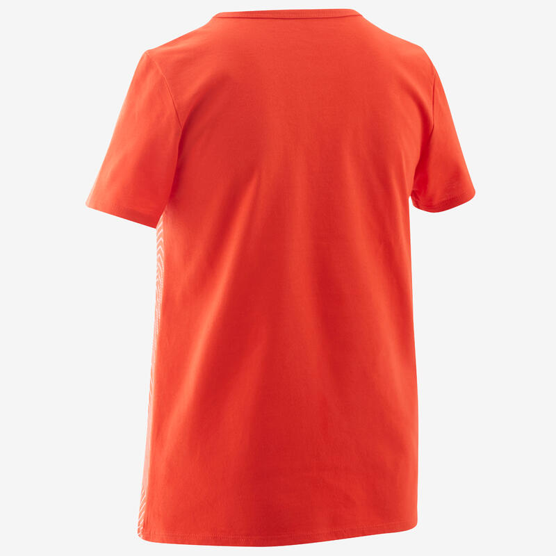 Kids' Basic T-Shirt - Red/Print