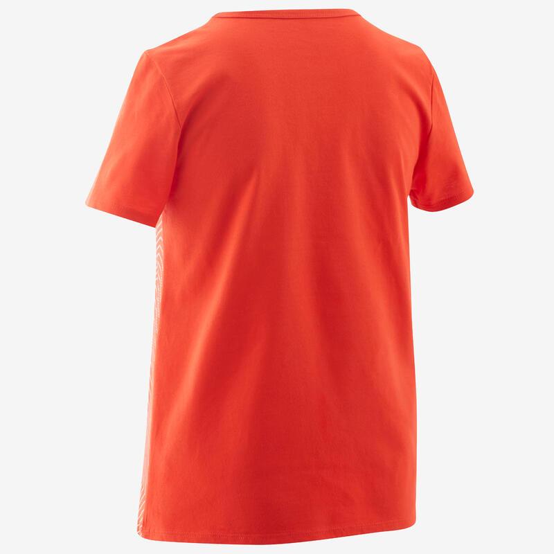 T-Shirt basique rouge imprimé ENFANT
