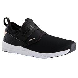 Chaussures marche sportive femme PW 160 Slip On noir