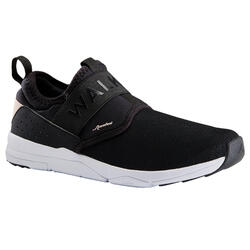 Chaussures marche urbaine femme PW 160 Slip On noir