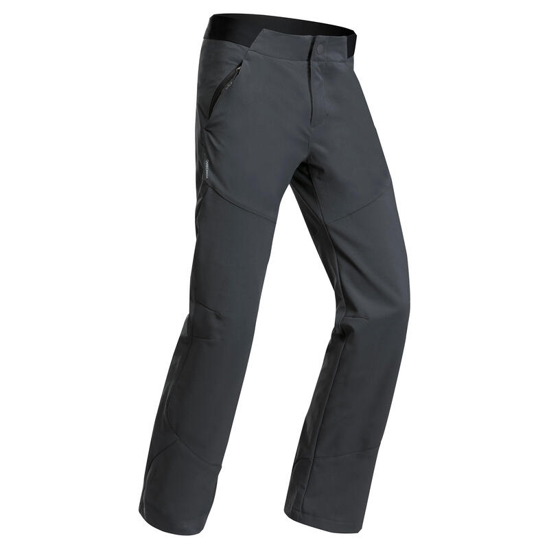 Kids' Hiking Softshell Trousers MH550 7-15 Years - black