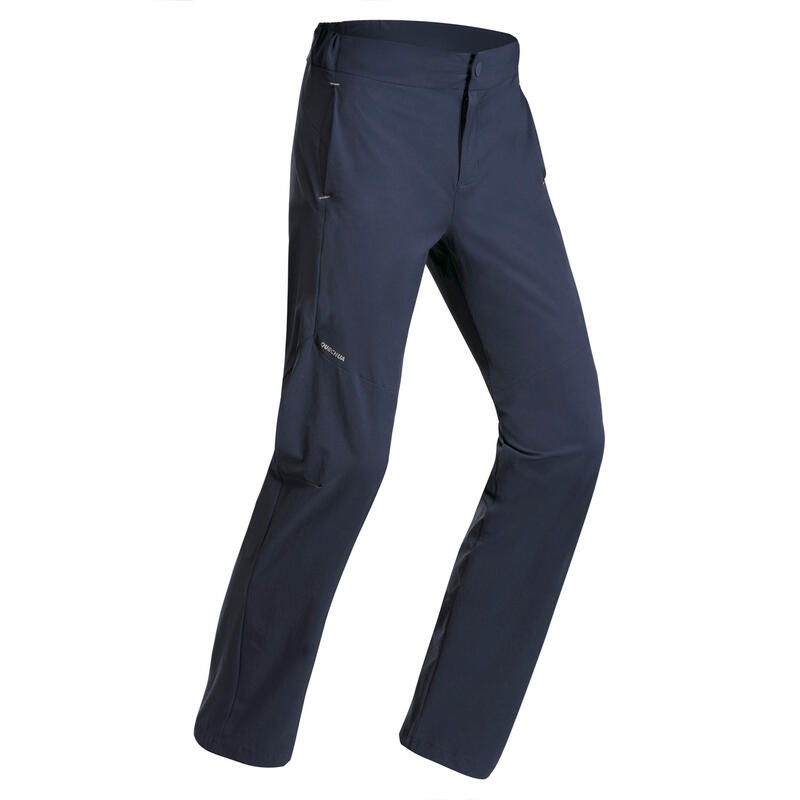 Kids' Hiking Trousers MH100 Aged 7-15 Navy