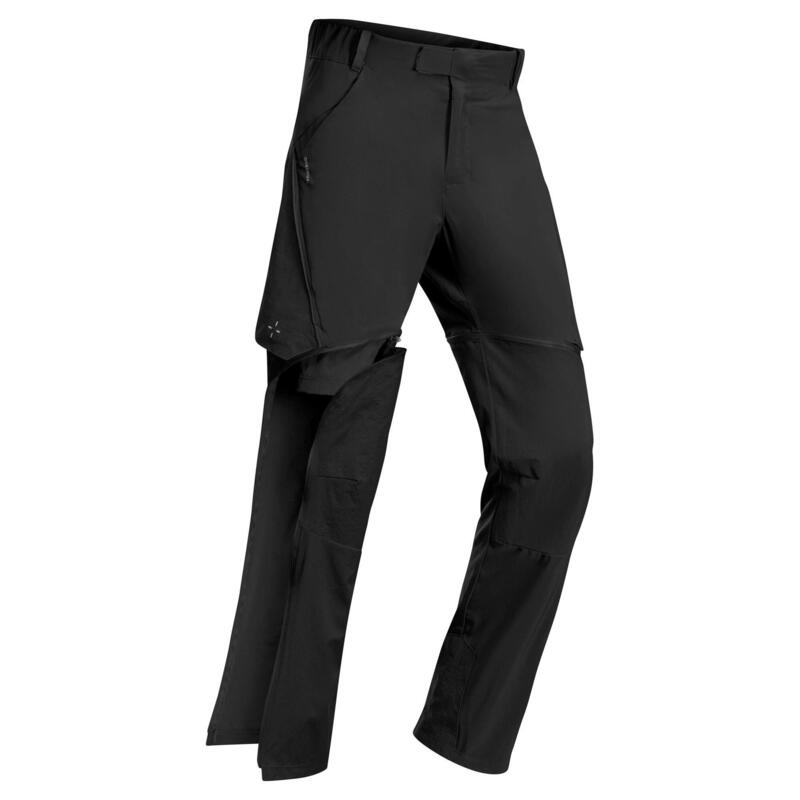 Pantaloni modulabili montagna bambino 7-15 anni MH500 neri
