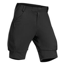 Kids' Modular Hiking Trousers MH500 Aged 7-15 Black