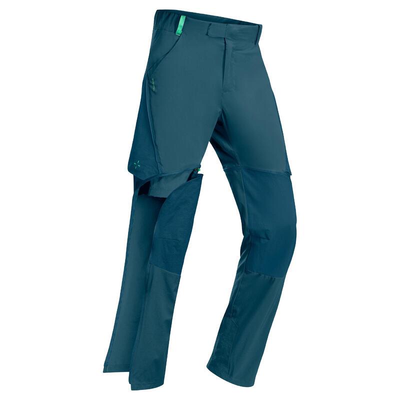 Pantalon de randonnée modulable enfant MH500 pétrole sombre 7-15 ans