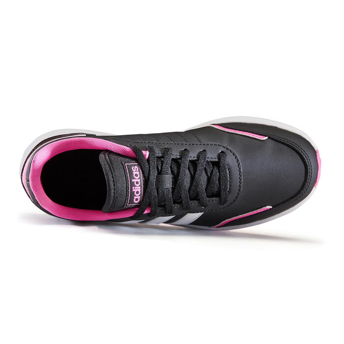 Chaussures marche enfant Adidas Switch noir / rose lacets