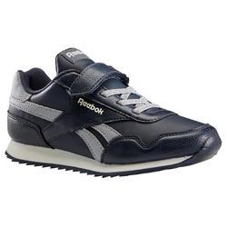Calçado de caminhada desportiva criança com velcro Reebok Classic azul/cinza