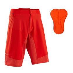 Pantaloncini mtb uomo ST 500 rossi