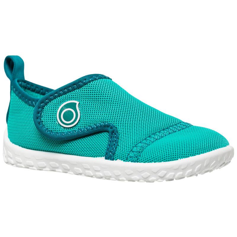 Chaussures aquatiques Aquashoes 100 bébé turquoise