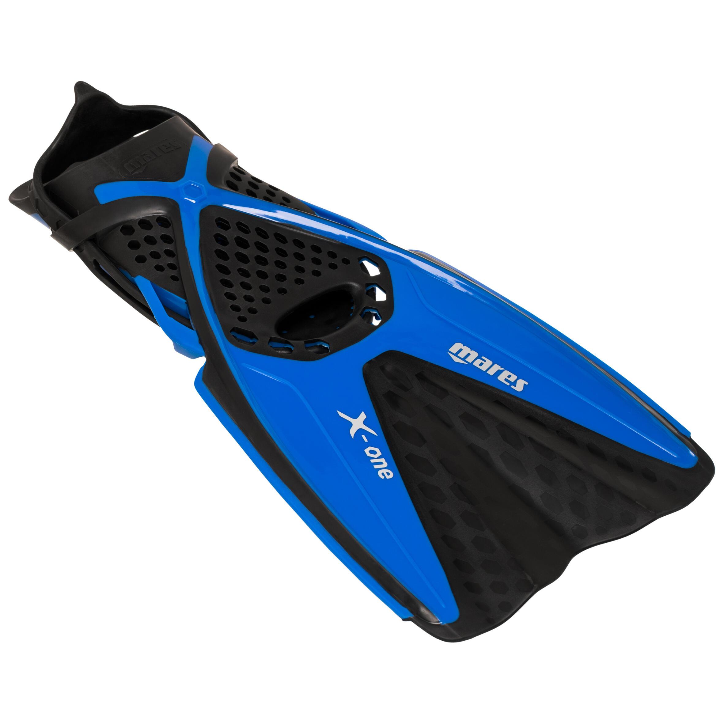 Snorkelvinnen voor kinderen x-one zwart en blauw
