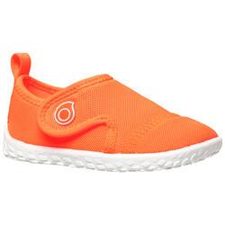 Chaussures aquatiques Aquashoes 100 bébé corail