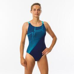 Sportbadpak voor zwemmen dames Swim Pro Back blauw